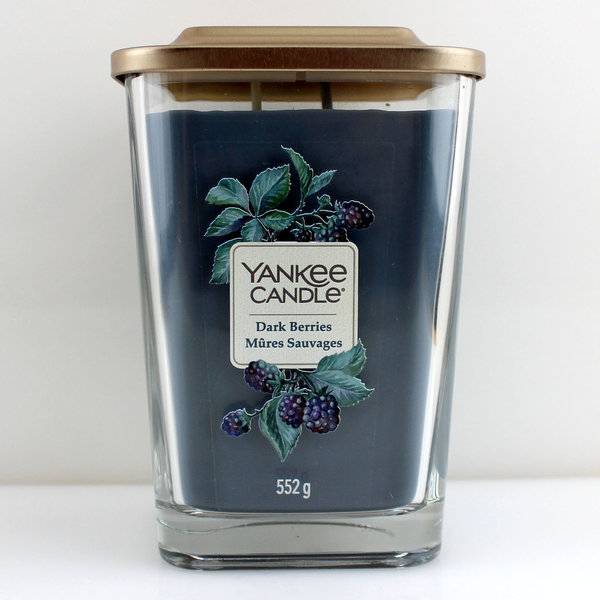 Yankee Candle Elevation Collection Quadratkerze 552 g Dark Berries