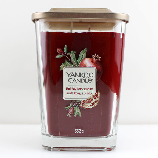 Yankee Candle Elevation Collection Quadratkerze 552 g Holiday Pomegranate