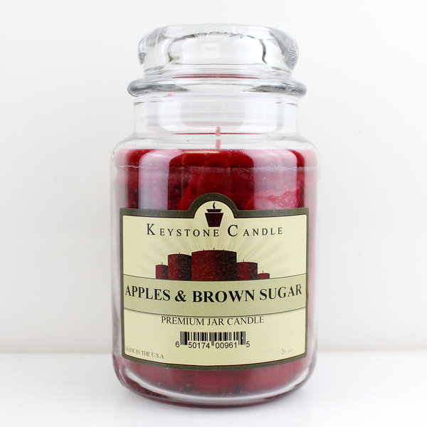 Keystone Candle Company Jar 655 g Apples & Brown Sugar