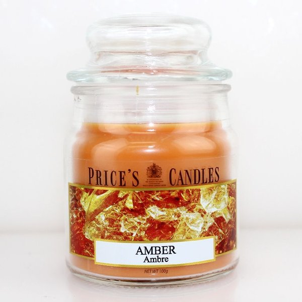 Price`s Patent Candles Limited Small Jar 100 g Amber