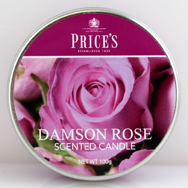 Price`s Patent Candles Limited Tin 100 g Damson Rose