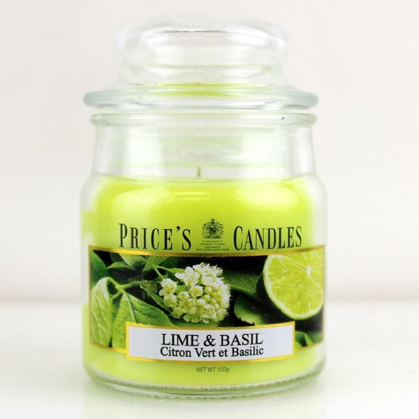 Price`s Patent Candles Limited Small Jar 100 g Lime & Basil