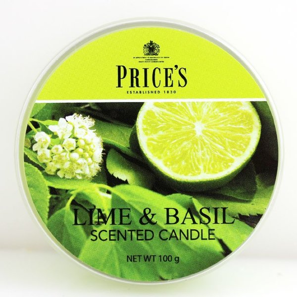Price`s Patent Candles Limited Tin 100 g Lime & Basil