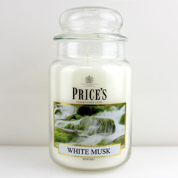 Price`s Patent Candles Limited Large Jar 630 g White Musk