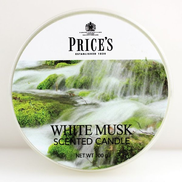 Price`s Patent Candles Limited Tin 100 g White Musk