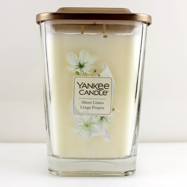 Yankee Candle Elevation Collection Quadratkerze 552 g Sheer Linen