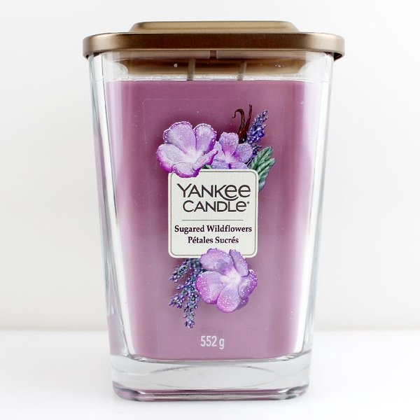 Yankee Candle Elevation Collection Quadratkerze 552 g Sugared Wildflowers